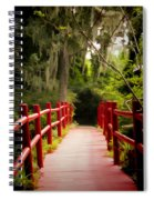 Red Bridge In Southern Plantation Spiral Notebook