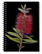 Red Brush Glow Spiral Notebook