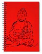 Red Buddha Spiral Notebook