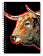 R E D . B U L L . In Black II Spiral Notebook