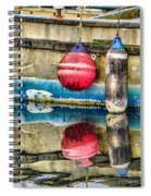 Red Buoy Reflections Of Alaska Spiral Notebook