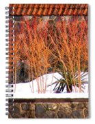 Red Bushes And Rock Wall Spiral Notebook