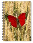 Red Butterfly In The Tall Weeds Spiral Notebook