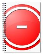 Red  Button Minus Spiral Notebook