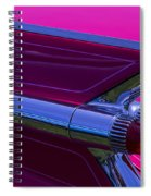 Red Caddy Tail Lights Spiral Notebook