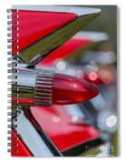 Red Cadillac Fins Spiral Notebook