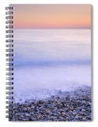 Red Calm At The Beach Spiral Notebook