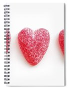 Red Candy Hearts Spiral Notebook
