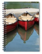 Red Canoes Spiral Notebook
