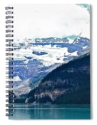Red Canoes Turquoise Water Spiral Notebook