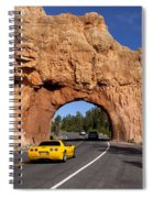 Red Canyon Near Bryce Canyon In Utah Spiral Notebook