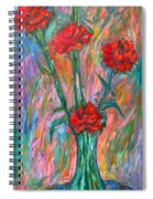 Red Carnation Melody Spiral Notebook