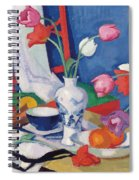Red Chair And Tulips, C.1919 Spiral Notebook
