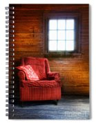 Red Chair In Panelled Room Spiral Notebook