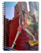 Red Cheque Reflections Spiral Notebook