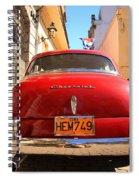 Red Chevrolet Spiral Notebook