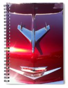 Red Chevy Car Hood  Spiral Notebook