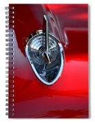 Red Chevy Hood Ornement Spiral Notebook