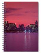 Red Chicago Sunset Spiral Notebook