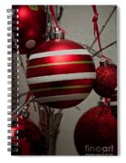 Red Christmas Balls Spiral Notebook