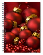 Red Christmas Baubles Spiral Notebook