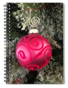Red Christmas Ornament Spiral Notebook