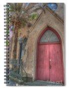 Red Church Door Spiral Notebook