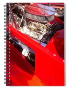 Red Classic Car Engine 2 Spiral Notebook