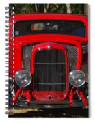 Red Classic Hotrod Spiral Notebook
