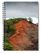 Red Cliff At Waimea Spiral Notebook