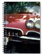 Red Corvette With Trees Spiral Notebook