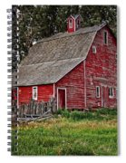 Red Country Barn Spiral Notebook