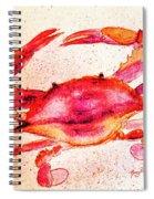 Red Crab  Spiral Notebook