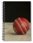 Red Cricket Ball Spiral Notebook