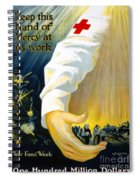Red Cross Poster, 1918 Spiral Notebook