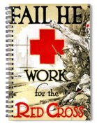 Red Cross Poster, C1918 Spiral Notebook