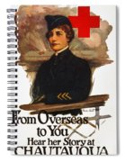 Red Cross Poster, C1919 Spiral Notebook