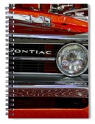 Red Customized Retro Pontiac-front Left Spiral Notebook