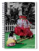 Red Dancing Spiral Notebook