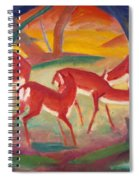 Red Deer 1 Spiral Notebook