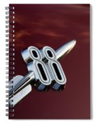 Red Delta 88 Rocket Spiral Notebook