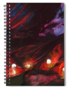 Red Demon With Pearls Spiral Notebook