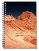 Red Desert Swirls Spiral Notebook