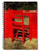 Red Desk And Chair Spiral Notebook
