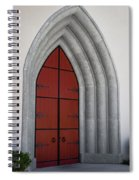 Red Door At Our Lady Of The Atonement Spiral Notebook