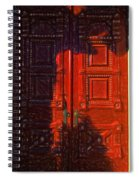 Red Door Behind Mysterious Shadow  Spiral Notebook