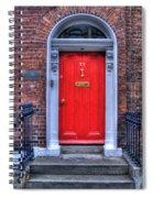 Red Door Dublin Ireland Spiral Notebook