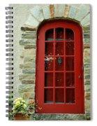 Red Door In Baltimore Spiral Notebook