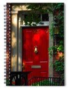 Red Door In Chicago Spiral Notebook