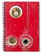 Red Door Lock Spiral Notebook